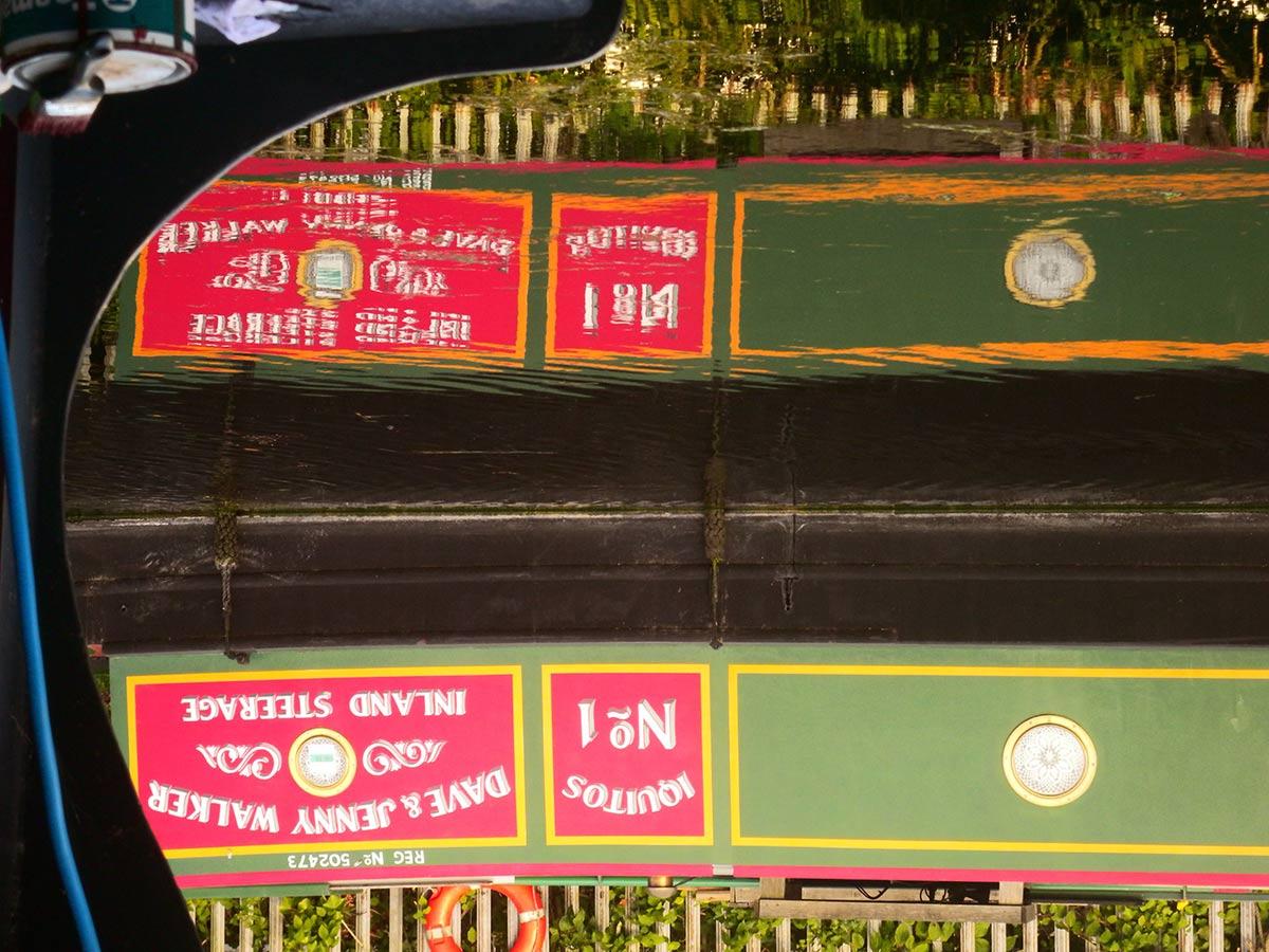 Dave & Jenny Walker Inland Steerage sign on narrowboat
