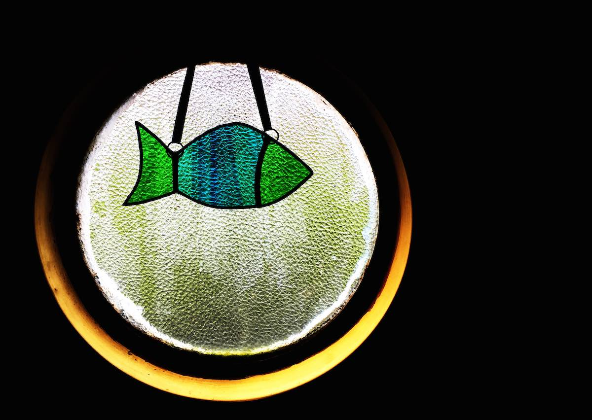 Stained glass fish.