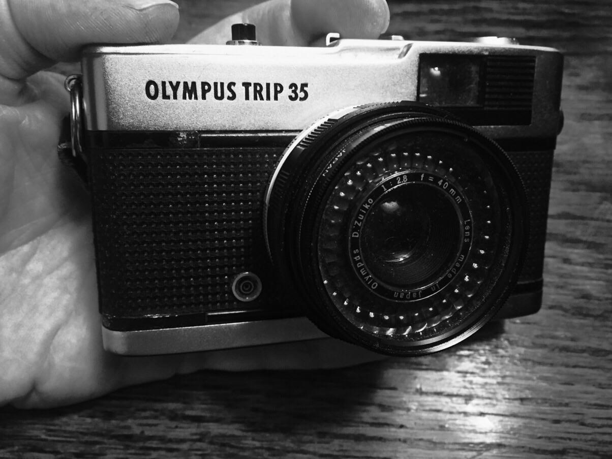 Olympus Trip, a classic 35mm camera.