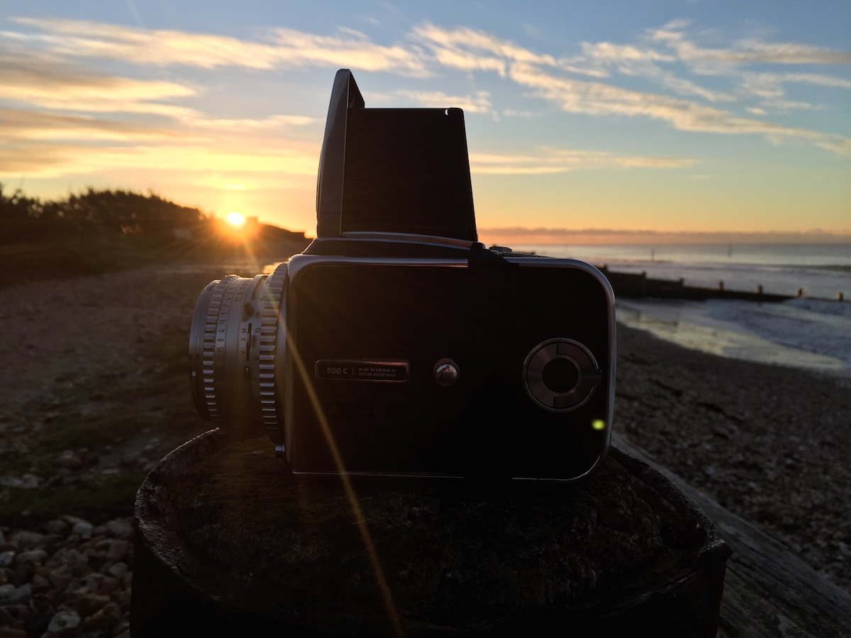 Hasselblad 501C at dawn, West Witterings beach.