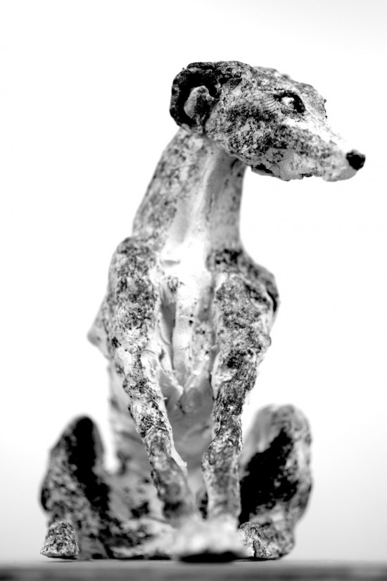 Ceramic Hound Sitting. Taken with a Nikon D810 and 85mm f1.8