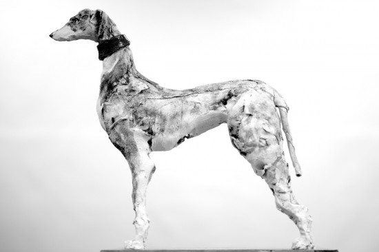 Ceramic Hound Standing. Taken with a Nikon D810 and 85mm f1.8