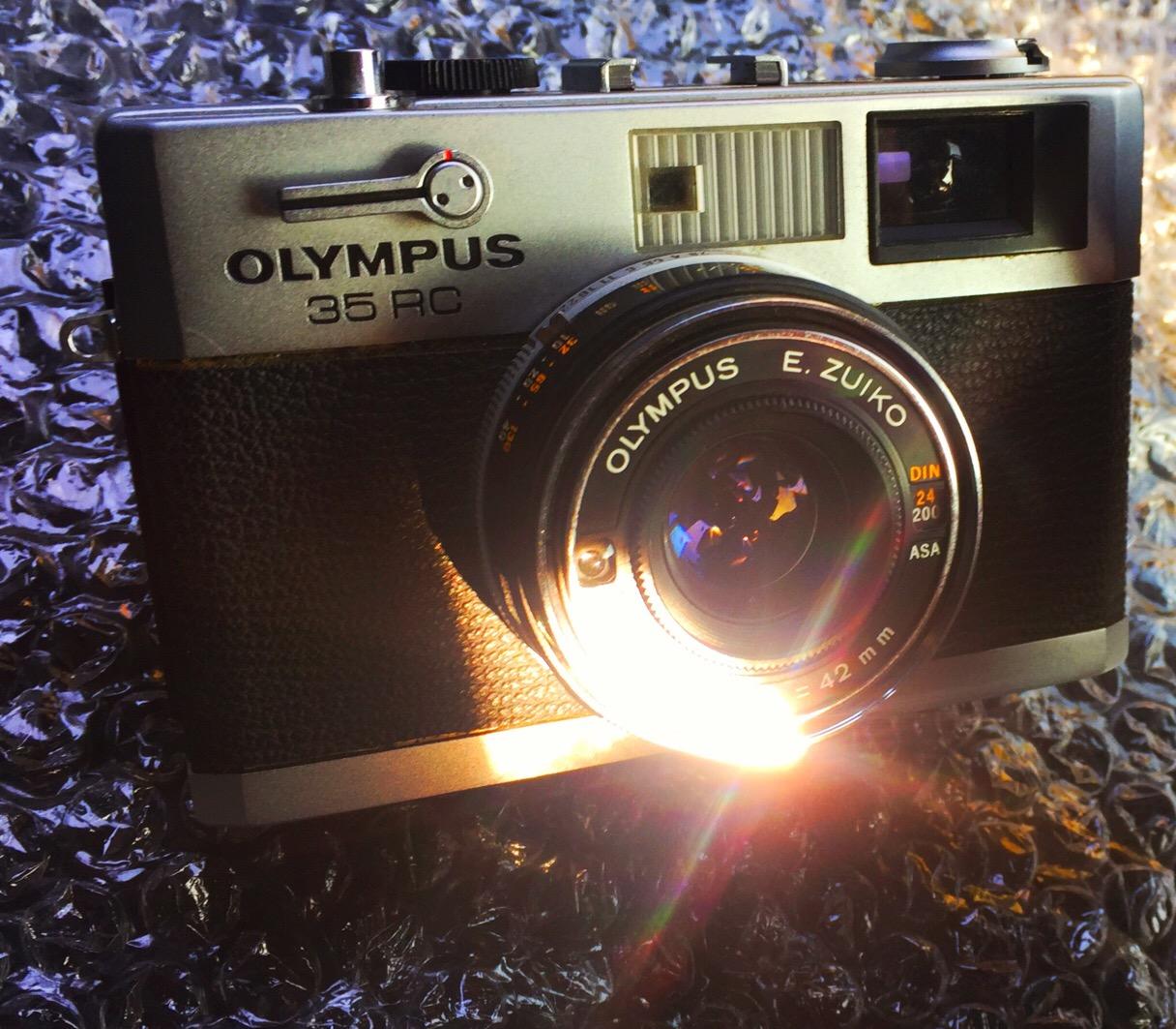 My newly arrived Olympus 35RC.
