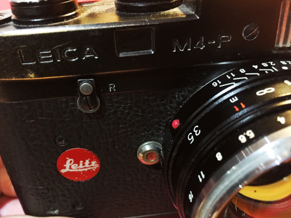 M4-P With Nokton 35mm f1.4 - and red dot.