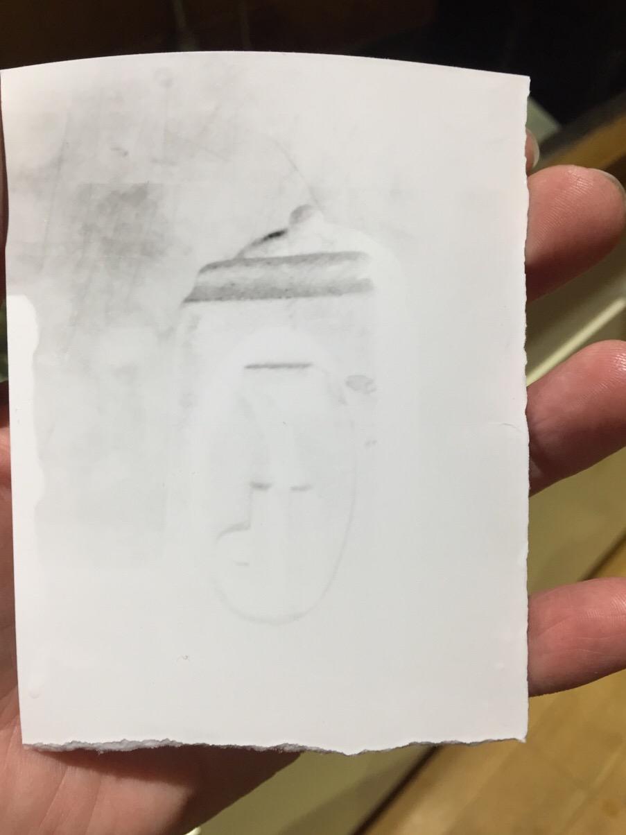 A paper negative made in my Ceramic Pinhole Camera.