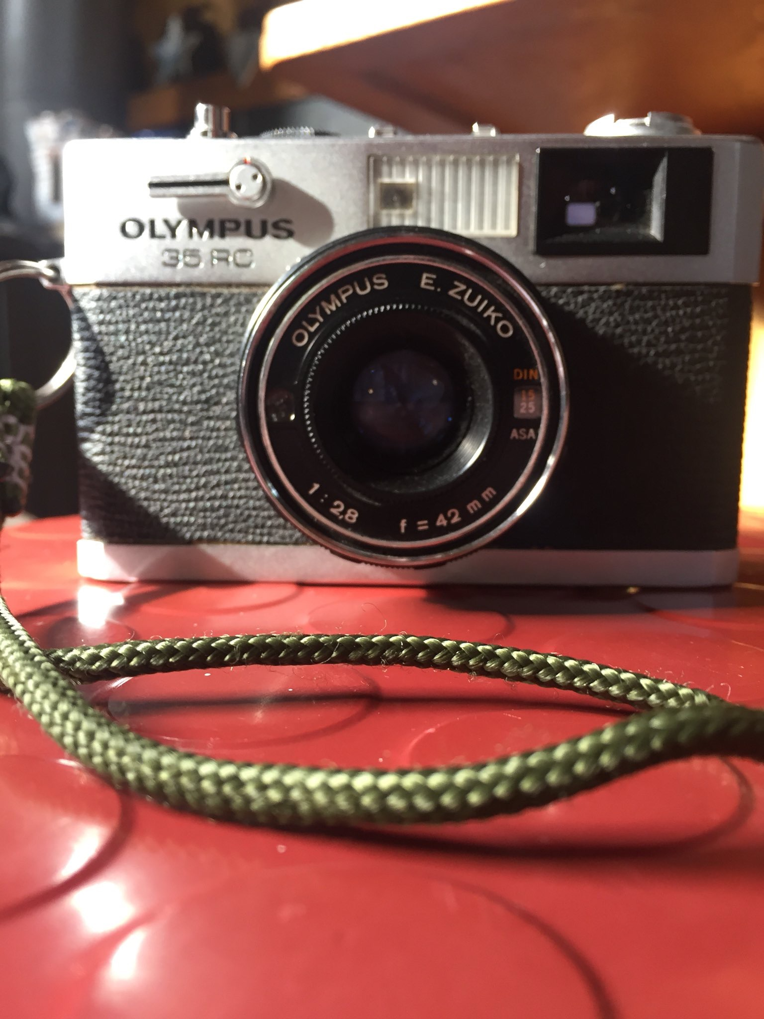 The Olympus 35RC rangefinder camera.