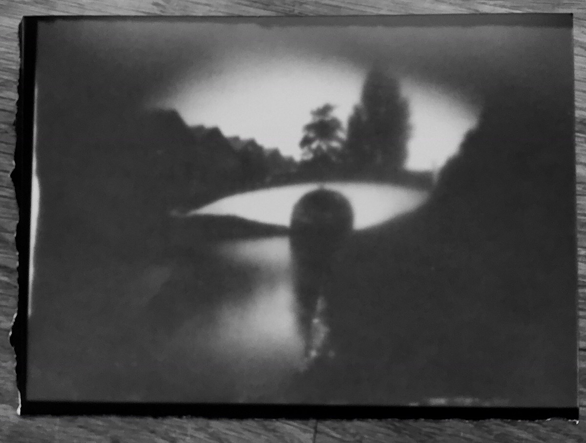 Foamcore pinhole image of Bridge 189.