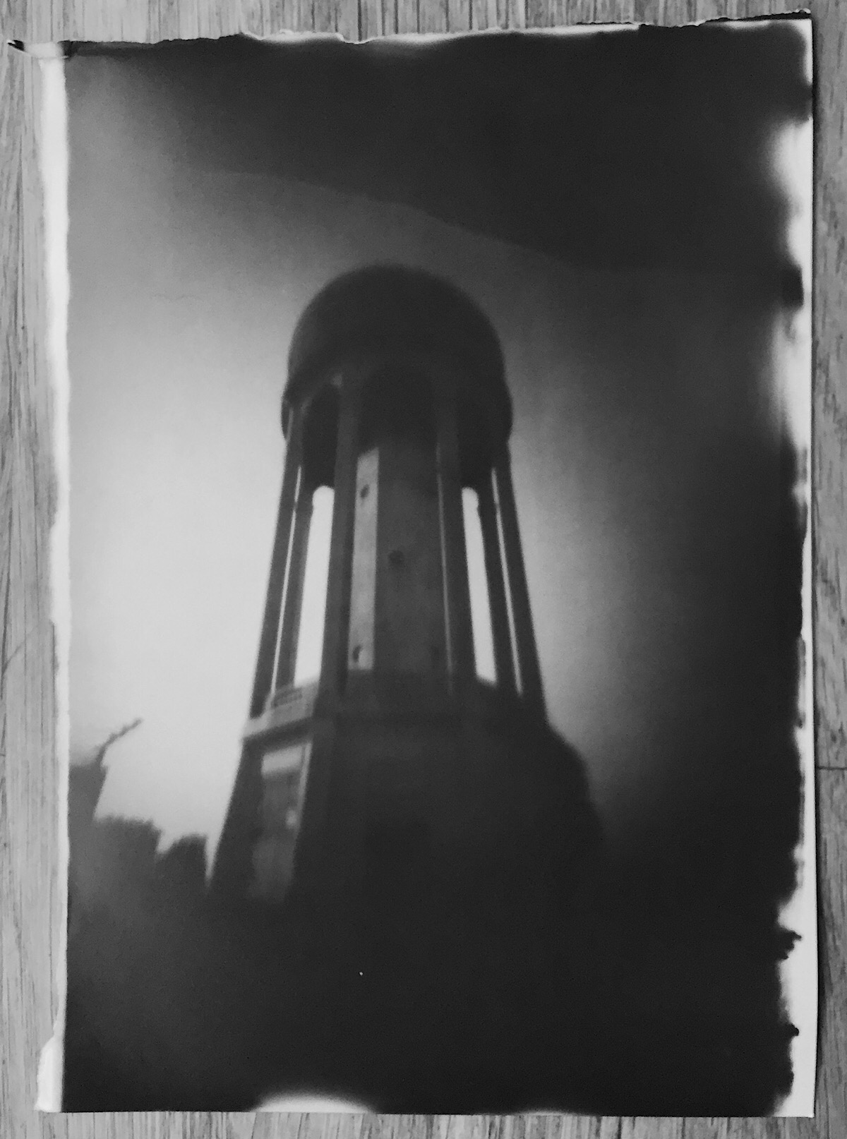 Tilehurst Water Tower In Foamcore Pinhole.