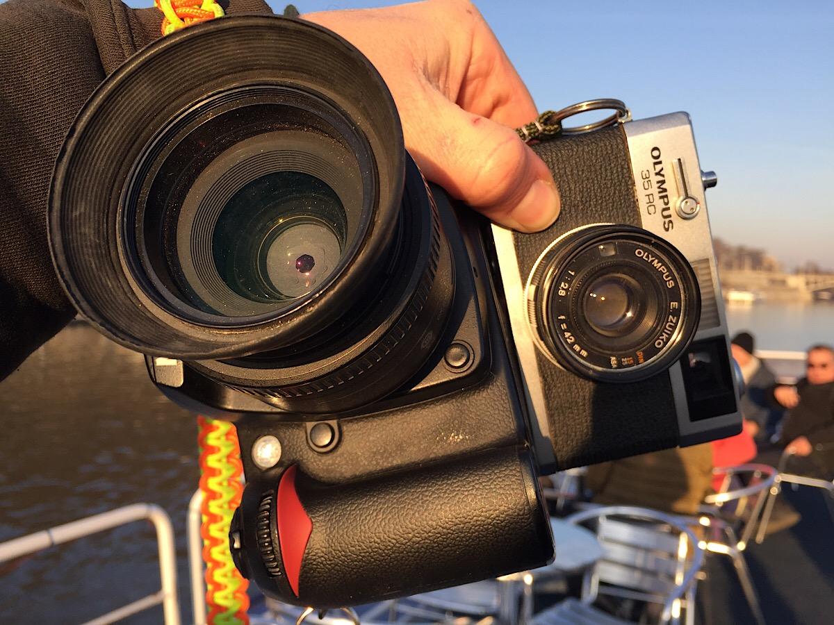 Nikon D90 and Olympus 35RC