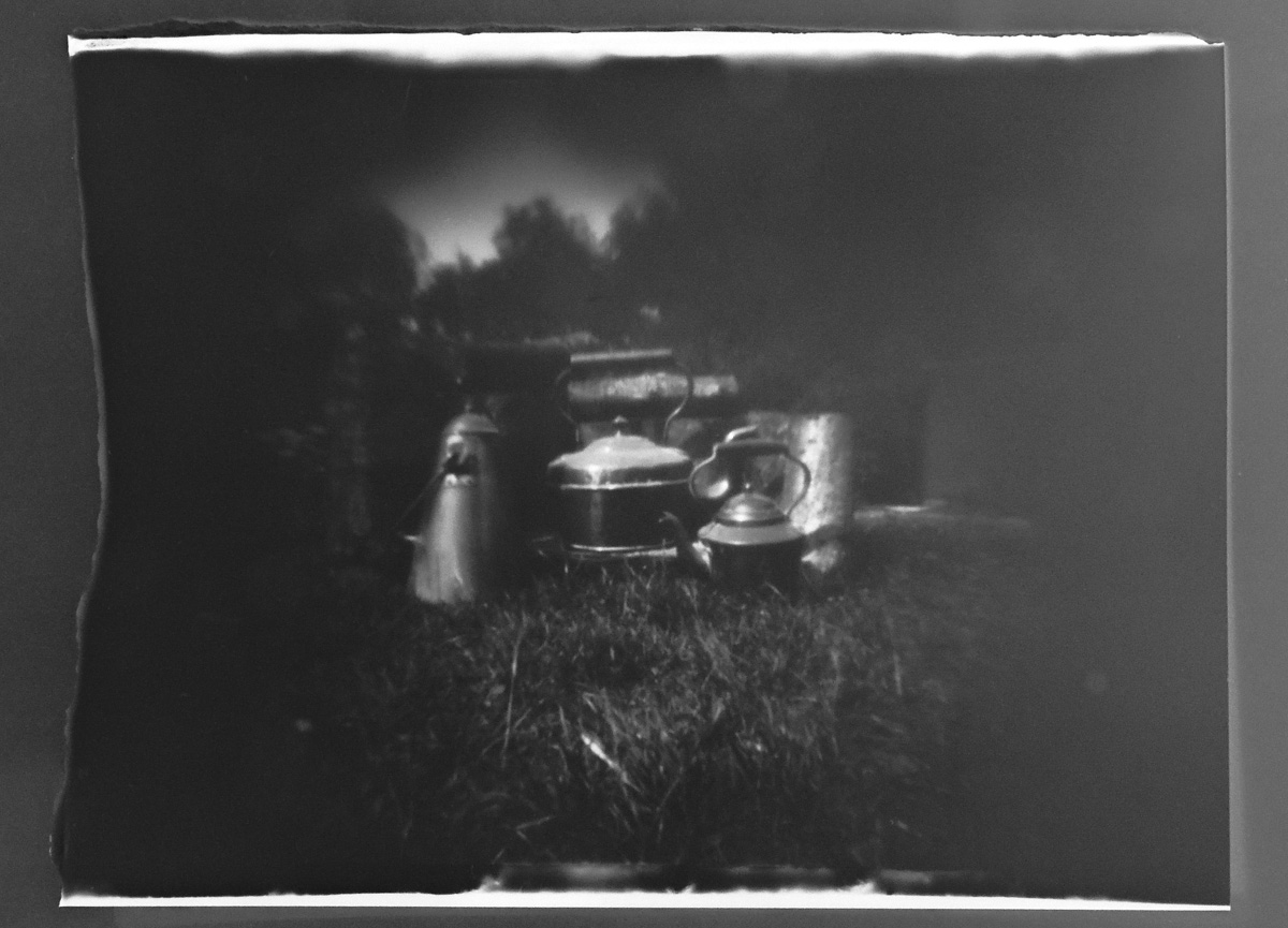 Pinhole photography with The Odd Couple, 10x4 and 5x7 foamcore pinhole cameras.