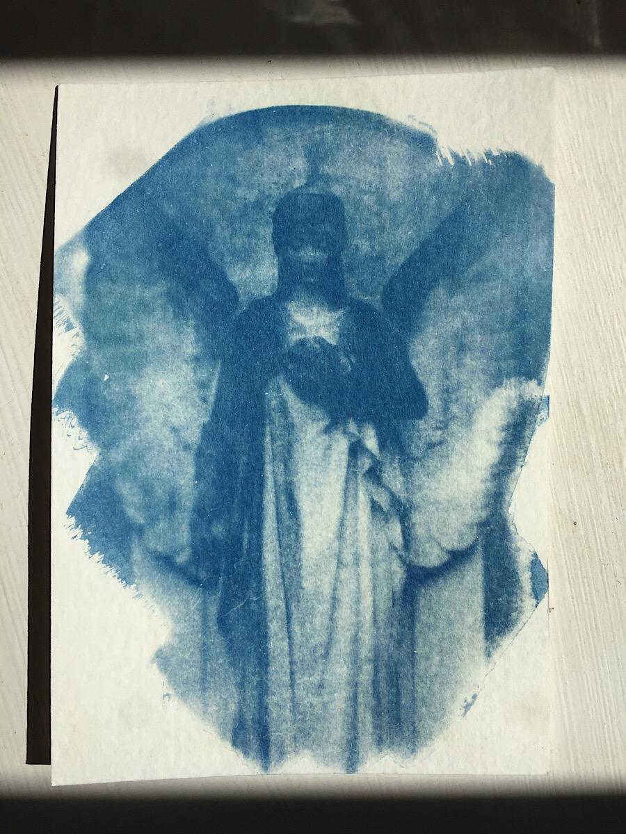 Cyanotype Graveyard Angel II