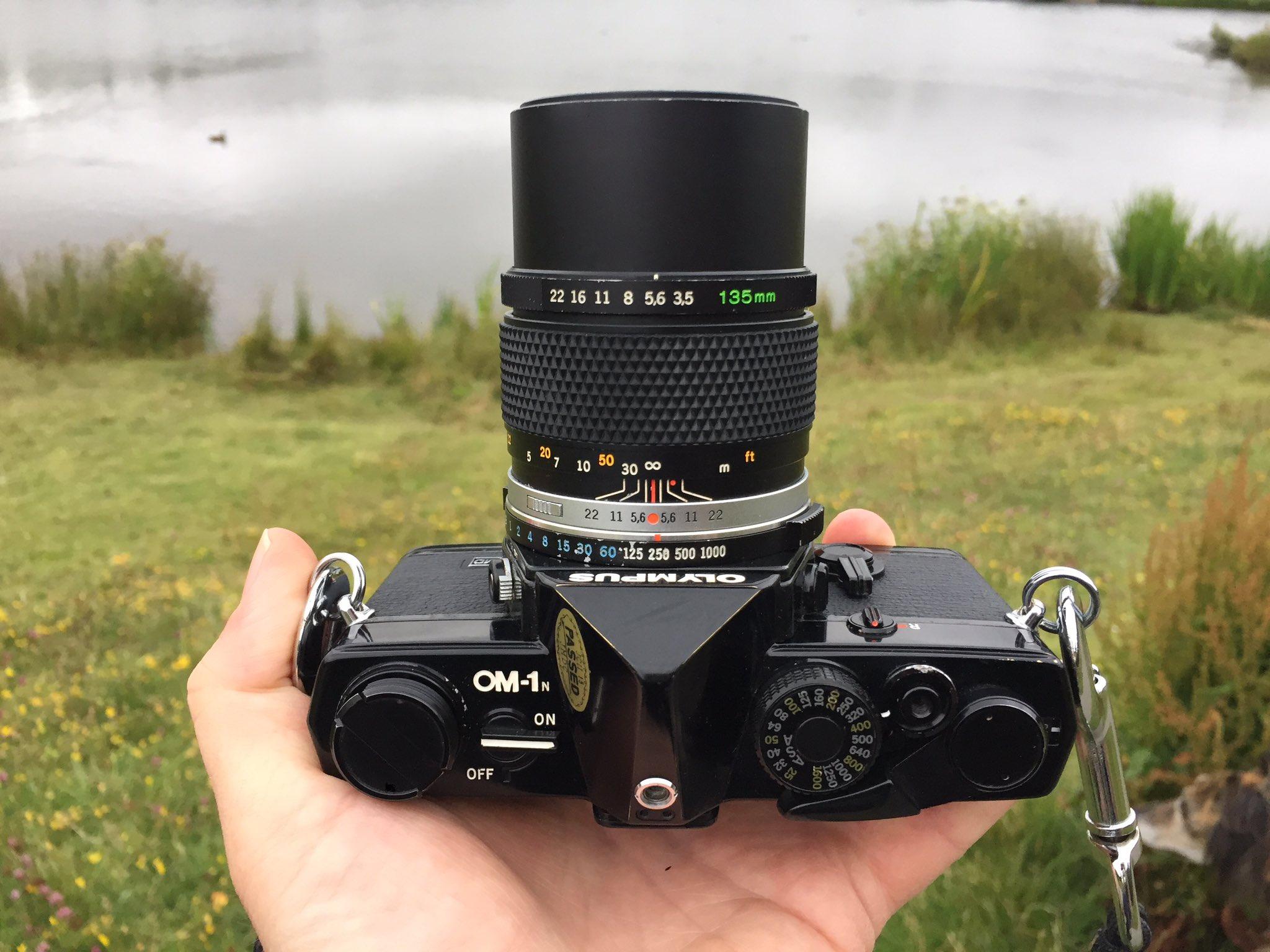 Olympus 0M1n with 135mm lens